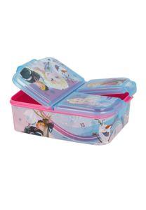 Disney Frozen - Die Eiskönigin Anna und Elsa Kinder Premium Brotdose Lunchbox Frühstücks-Box Vesper-Dose mit 3 Fächern