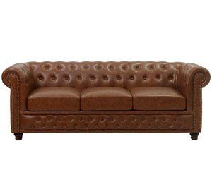 KMH® 3-sitzer Chesterfield Sofa antikbraun