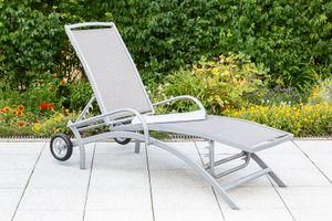 """Merxx Gartenliege """"Amalfi"""" - Aluminiumgestell mit Textil - 26315-330"""