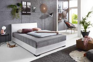 Relita Polsterbett MELS weiß/anthrazit 140x200 cm mit Federkernmatratze und Bettkasten