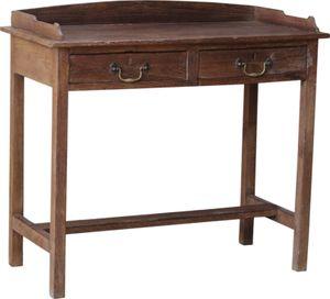 Vintage Schreibtisch mit 2 Schubfächern - Modell 46, Braun, Holz, 84*92*46 cm, Schreibtische & Schreibpulte