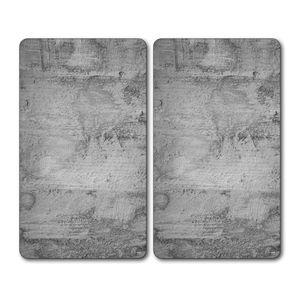 KESPER 2er Set Multi-Glasschneideplatte, Motiv: Beton 3654013