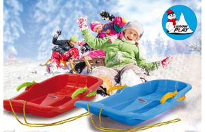 Jamara Snow Play Bob Karol mit Bremse 80cm rot