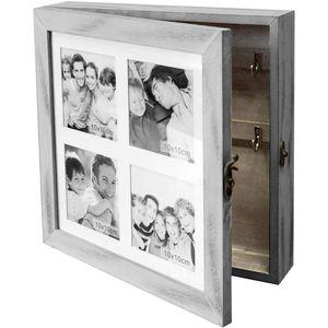 Wohaga® Schmuck-/Schlüsselschrank 'Family' mit Fotogalerie für 4 Fotos