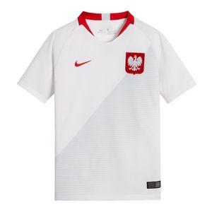 NIKE POLSKA JUNIOR Kinder Trikot T-Shirt Weiß, Größe:M