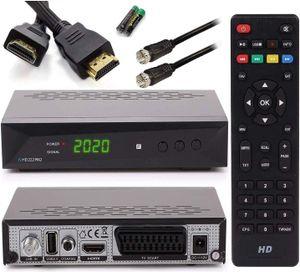 CYE [ Test GUT *] HD 222 Pro + Satkabel + HDMI Kabel - PVR Aufnahmefunktion Timeshift, - UNICABLE - Digital HDTV Sat-Receiver für Satelliten - Astra & Hotbird installiert - HDMI SCART DVB-S/S2