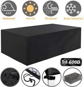 HelpAccess® Abdeckung Gartenmöbel 210 * 150 * 72cm 600D Oxford Wasserdicht Schutz vor Wind und Wetter - in schwarz.