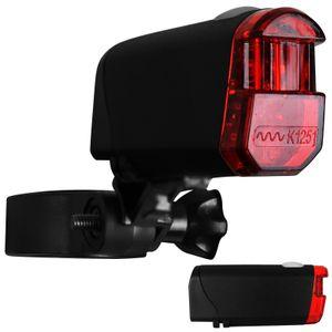 Fahrrad Rückleuchte mit Batterien Rücklicht mit StVZO-Zulassung Fahrradlicht hinten Fahrradbeleuchtung Fahrradrücklicht