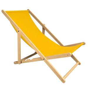 Liegestuhl Holtaz PREMIUM aus Buchenholz für Garten und Balkon, Sonnenliege, Strandstuhl, klappbar, verstellbar, bis 130 kg