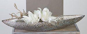 Casablanca Schale Purley 80 cm Metall antik-silber Dekoschale oval