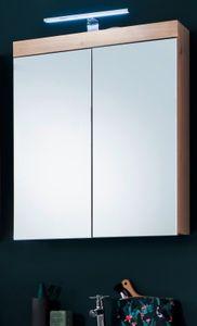 Spiegelschrank Asteiche Nachbildung 2-türig Breite 60 cm - Trendteam Badmöbel Eiche Amanda