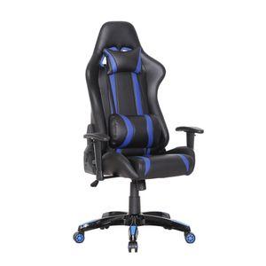 SVITA Bürostuhl Racingstuhl Schreibtischstuhl Schwarz Blau