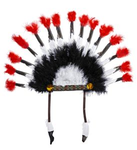 Kopfschmuck Indianer Häuptling - Indianerfedern - Indianer FEder