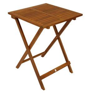 DEGAMO Gartentisch Klapptisch Bistrotisch Holztisch LIMA 60x60cm quadratisch, Akazie geölt