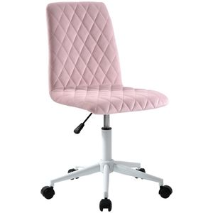 Curyu Samt Bürostuhl Schreibtischstuhl Computerstuhl Arbeitsstuhl Drehstuhl Verstellbare Höhe für Wohnung und Büro, für Wohnung und Büro ,Rosa