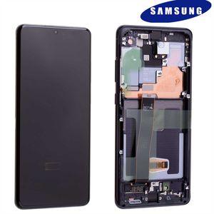 Original Samsung Galaxy S20 Ultra 5G G988 GH82-22327A / GH82-22271A LCD Display Touch Screen Bildschirm Digitizer (Service Pack) Cosmic Schwarz