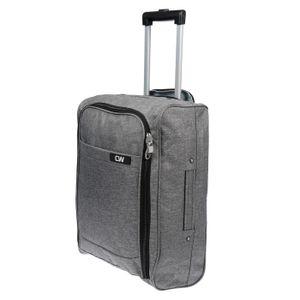 Handgepäck Koffer Reisetasche 2 Rollen IATA Schwarz Grau Reisekoffer Grau