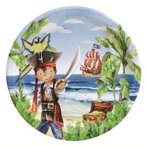 Partyteller 23 cm Durchmesser, beschichtet - Captain Jack, VE 10 Stück