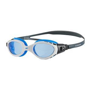 Speedo - Futura Biofuse Flexiseal Schwimmbrille für Herren/Damen Unisex RD118 (Einheitsgröße) (Weiß/Blau)
