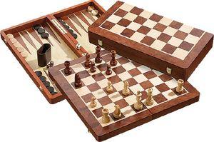 Schach-Backgammon-Dame-Set
