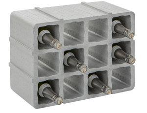 Styropor-Flaschenregal oder Weinregal für 12 Flaschen