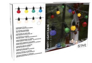 Best Season LED-Party Light, 20-teilig bunte LED, Farbe bunt, Kabel grün, outdoor, 476-14