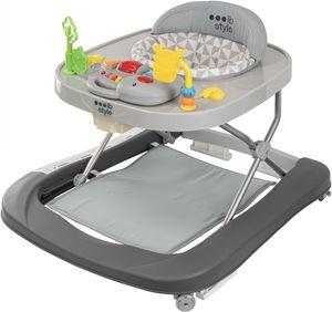 ib style®LITTLE DINO Babywalker Gehfrei abnehmbares Spielzeug  Lauflernwagen Licht & Sound GRAU