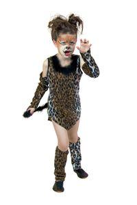 Karneval Kinder Kostüm Wildkatze Mädchen Katze Katzenkostüm Gr. 116