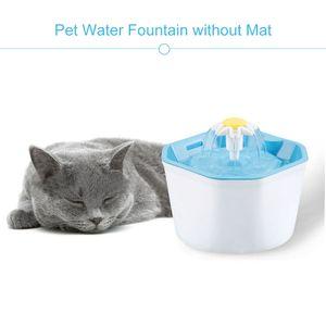 1.6L Automatischer Trinkwasserbrunnen Stilles Trinken Elektrischer Wasserspender Futternapf fuer Katzen Hunde Mehrere Haustiere (Trinkbrunnen ohne Matte)