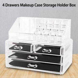 Transparente Acryl Kosmetik Storage Make up Organizer Kosmetikbox Aufbewahrungsbox mit 4 Schubladen