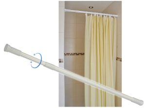 Duschvorhangstange Duschstange stufenlos ausziehbar 70-120cm weiss 33216