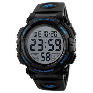 SKMEI Man Watch Armbanduhr Fashion Watch Multifunktions wasserdichte Outdoor Sports Luminous Watch 1258 Blue
