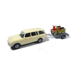 Herpa 420419 Wartburg 353 Tourist mit Anhänger und 2x Simson Maßstab 1:87