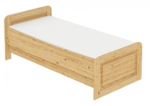 Seniorenbett extra hoch 100x200 Einzelbett + Rollrost Matratze Bett Massivholz Kiefer 60.42-10 M