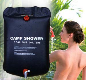 Solardusche Campingdusche 20L Shower Outdoordusche Schwarz Solar Tasche Dusche 1168