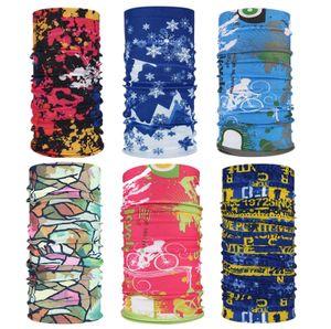 6 Stück Bandanas Multifunktionstuch, Kopftuch Halstuch Herren Damen UVSchutz Schal Stirnband Schnelltrocknend für Freien, Stirnband, Motorrad Bandana, Kopftuch ect.