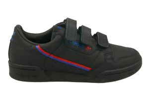 adidas Originals Damen Turnschuhe Continental 80 W Strap Schwarz / Rot / Blau, Größe:40