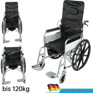 Manueller Rollstuhl faltbar / Breit 67cm mit Handbremsen stabiler Rollstuhl