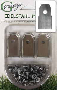 30x Ersatz Messer Klingen kompatibel für Gardena ® Mähroboter (NEUE FORM HQ 2018 - longlife - 0,60 mm) + 30x ELOX Schrauben [DIN EN 50636 ]