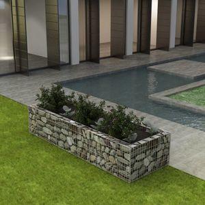 Gabionen-Hochbeet Garten-Hochbeet Hochbeet Stahl 270×90×50 cm
