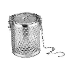 Teesieb Teefilter Edelstahl Teebehälter Kräutersieb Mesh Filter mit Haken Größe 0,3 l