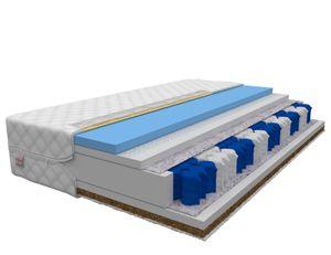 Matratze 180 x 200 cm EPINAL 7 Zonen Höhe ca 25 cm H2 H3 Taschenfederkern hochelastisch HR KOKOS