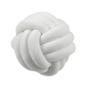 CANDeal 35cm Kissen Knoten Knot Kissen Knotenkissen Kopfkissen Nordische Einfachheit Kreativität Geknotetes Kissen zierkissen Plüschkissen Cushion Nachbildung - Weiß