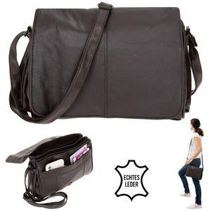 Handtasche aus Leder Alessandro Trier  Damentasche Umhängetasche Tasche 1343 Braun +e