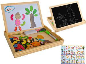 Magnetisches Holzpuzzle für Kinder Kreide Tafel Großes Set Multifunktional 7264