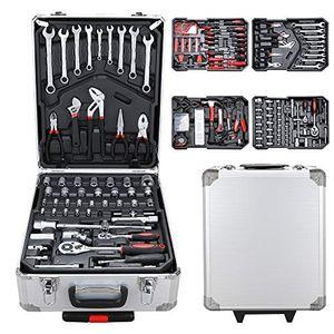 Wolketon Werkzeugkoffer 1031 teilig Werkzeugkasten Alu Werkzeugkiste Set abschliessbar Werkzeugtasche Werkzeug-Trolley 4 Ebenen Werkzeugtrolley¡