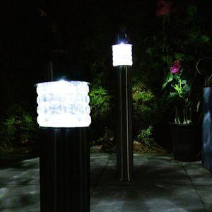 2er Set LED Solarleuchten mit PIR Bewegungsmelder - Standlampen, Stehleuchten, Wegeleuchten, Garten