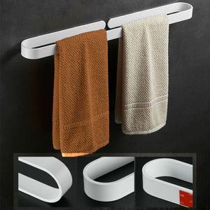 40cm Handtuchhalter Ohne Bohren Handtuchstange Handtuchhaken Badezimmer Küche Weiß