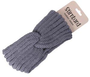 Damen Stirnband Haarband Schleife Winter, Farbe wählen:grau