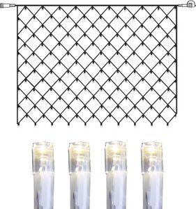 System DECOR   LED-Lichternetz   koppelbar   2x1,5m   transparentes Kabel   100 daylight LEDs